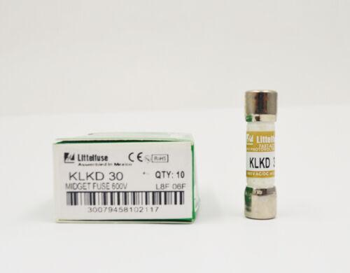 1PC Littelfuse KLKD 9A 9A 9 Amp 600V Midget Fast Acting Fuses KLKD 9A