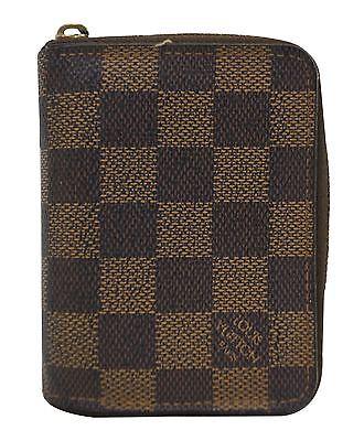 Authentic Louis Vuitton Damier Ebene Zippy Coin Purse TT758