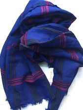 Paul Smith Women Scarf Large Check Made In Italy RRP£199