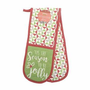 Country Club Tis The Season to be Jolly Christmas Apron Oven Gloves