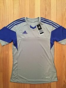 NWT adidas Youth ClimaCool Tiro 13 Jersey Top Silver Cobalt Blue XL ... 37dbe21c2