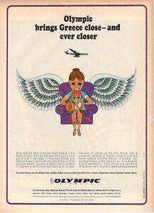1967-Original-Advertising-039-Vintage-Olympic-Airways-Airlines-Ever-Closer-23AAA