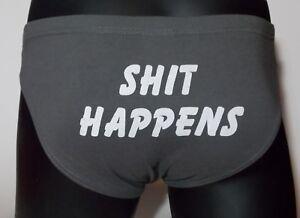 Men-039-s-underwear-jocks-034-Shit-Happens-034-Christmas-birthday-fun-gift-new