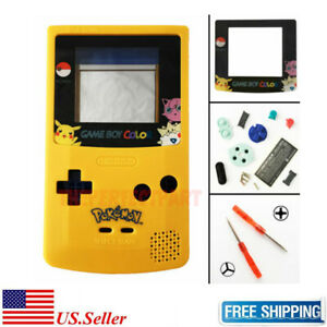 LIMITED-EDITION-Pokemon-Pikachu-Color-Housing-Shell-For-GBC-Nintendo-Game-Boy