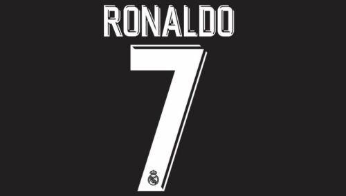 Ronaldo #7 Real Madrid 2017-2018 Away Football Nameset for shirt