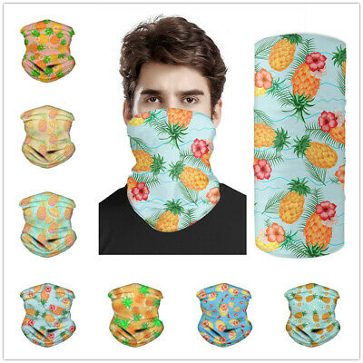 Natural Bandanas Balaclava Face Scarf Headband Scarves Pineapple Flowers Print