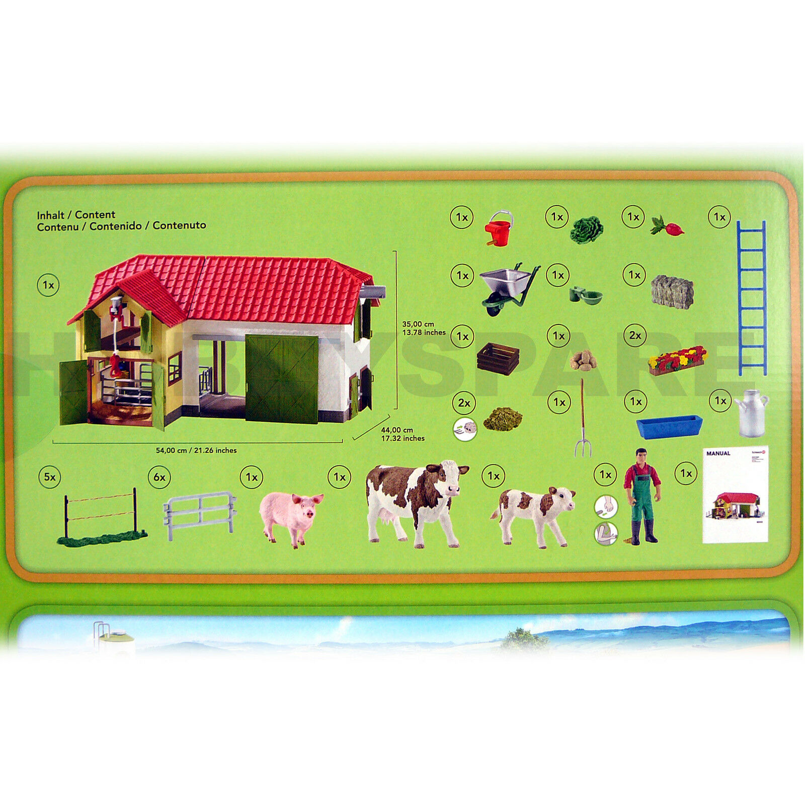 NEW SCHLEICH LARGE FARM HOUSE BARN with with with ANIMALS & ACCESSORIES FARM WORLD 42333 27827f