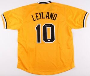 adc34dd9a JIM LEYLAND AUTOGRAPHED CUSTOM JERSEY (PITTSBURGH PIRATES) - JSA COA!