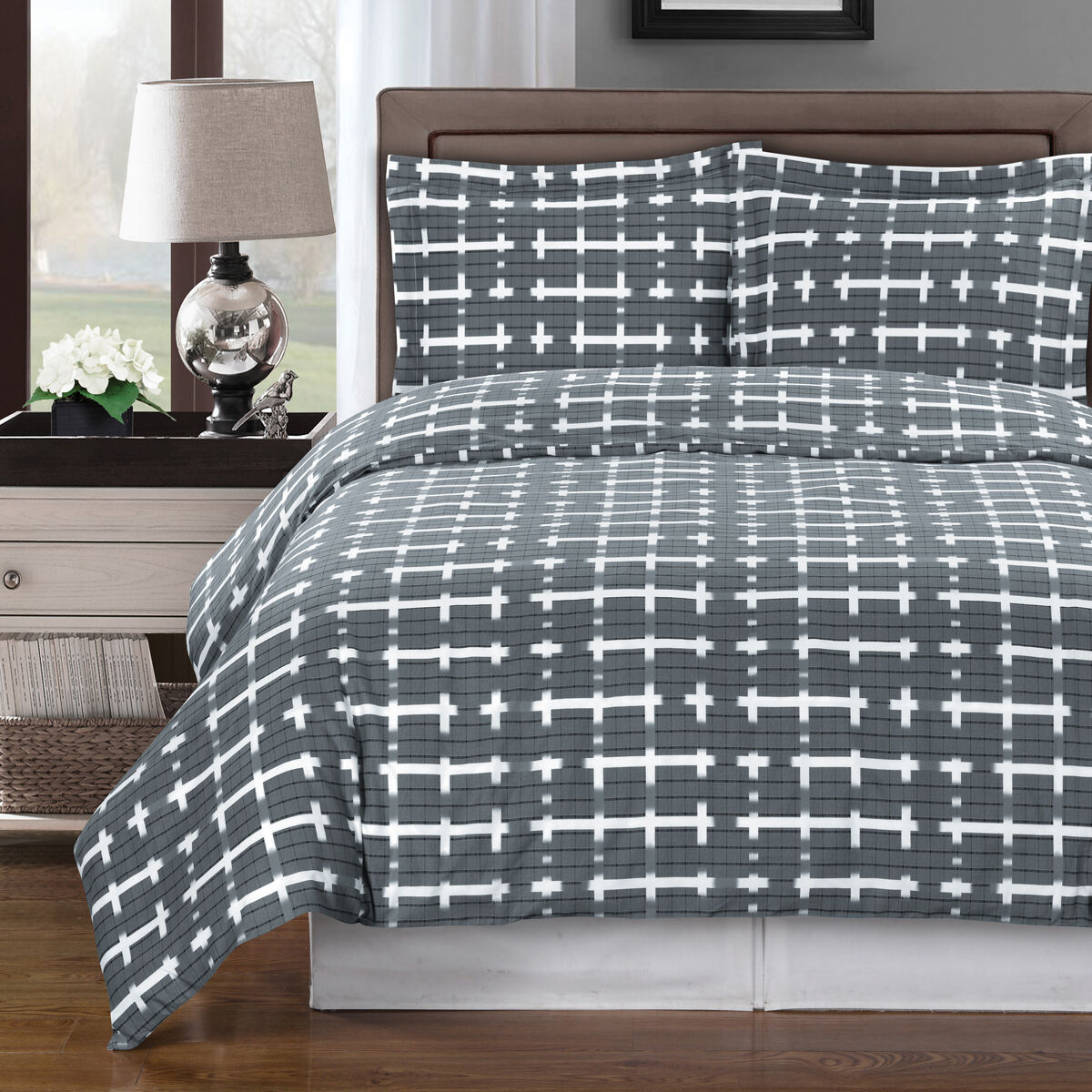 LUXURIOUS Norwich 100% Egyptian Cotton Duvet Cover Sets- 4 Styles 2 Sizes