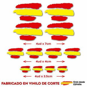 12-X-BANDERA-ESPANA-SPAIN-VINILO-ADHESIVO-PEGATINA-STICKER-COCHE-MOTO-CASCO-BTT