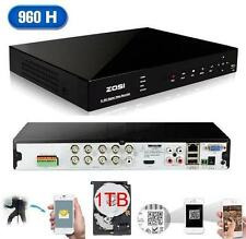 ZOSI (EZ-9608Z-1TB) 8 Ch H.264 960H/DI HDMI Output CCTV Security DVR + 1TB HDD