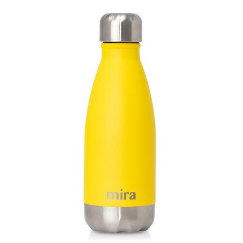 jaune citron Mira cascade en acier inoxydable isolation sous vide bouteille d/'eau 12 oz environ 340.19 g