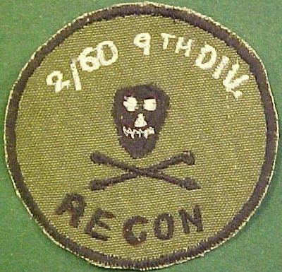 2nd Recon Bn, 60th Regiment, 9th Infantry Division Vietnam Patch