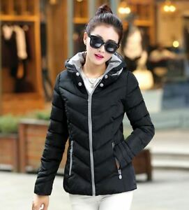 sport Korte capuchon Comfortabele warme damesnek 1232 zwarte slanke donsjas XB6qBZ