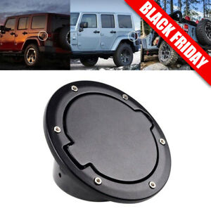 ABS 2007-2016 For Jeep Wrangler JK 2Dr 4Dr Black Fuel Filler Door Gas Cover