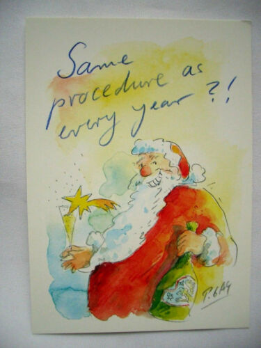 10 X 15 * Peter Gaymann 6 bonne Noël Dessin Animé Same procedure..