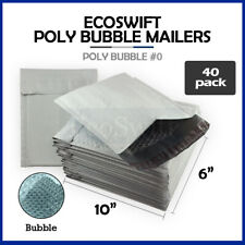 40 0 6x10 Poly Bubble Mailers Padded Envelope Shipping Supply Bags 6 X 10