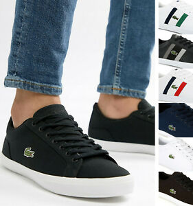 Lacoste-Mens-Shoes-LEROND-Casual-Sneakers-Canvas-Leather-Trainers-NEW