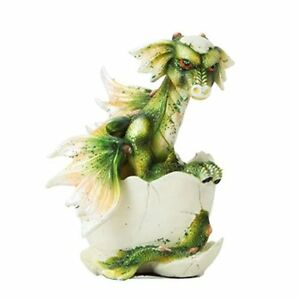 Details about Adorable Green Wing Dragon Egg Baby Hatching Figurine Statue