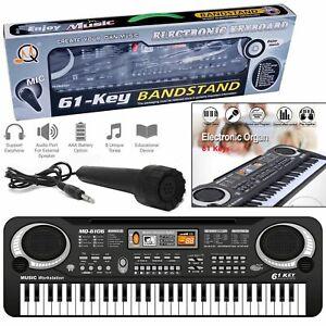 61-Keys-Digital-Electric-Piano-Music-Electronic-Keyboard-Organ-Mini-Microphone