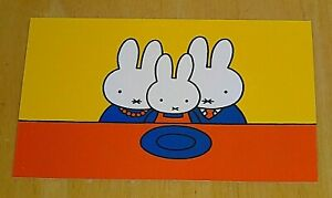 039-WITH-LOVE-FROM-MIFFY-039-POSTCARD-FATHER-amp-MOTHER-BUNNY-WITH-MIFFY-DICK-BRUNA