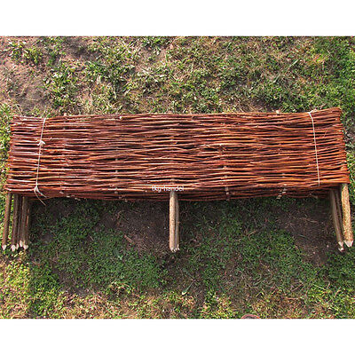 1 Stk Beeteinfassung Weide Weidenzaun Beetumrandung Weidezaun 120 x 20cm