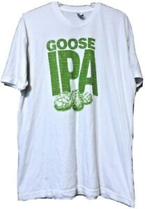 America-Apparel-Goose-Island-Beer-IPA-White-T-Shirt-Size-2XL