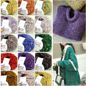Sale-1SkeinsX50gr-Luxury-Soft-MOHAIR-Colorful-Shawls-Hand-Knit-Crochet-Yarn-UK