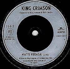 "KING CRIMSON Matte Kudasai 1981  UK  7"" Vinyl Single EXCELLENT CONDITION"