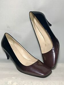 6b30f7b8c14a PRADA ITALY VINTAGE OMBRE SQUARE TOE PUMPS BROWN AND BLACK SIZE 38 ...