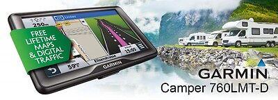 "GARMIN CAMPER&CARAVAN 760 LMT-D EUROPA LIFETIME MAPS 17,8 CM 7"" DISPLAY"