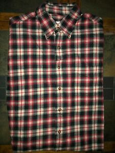 Men-039-s-Brooks-Brothers-Long-Sleeve-Plaid-Soft-Flannel-Button-Front-Shirt-Medium
