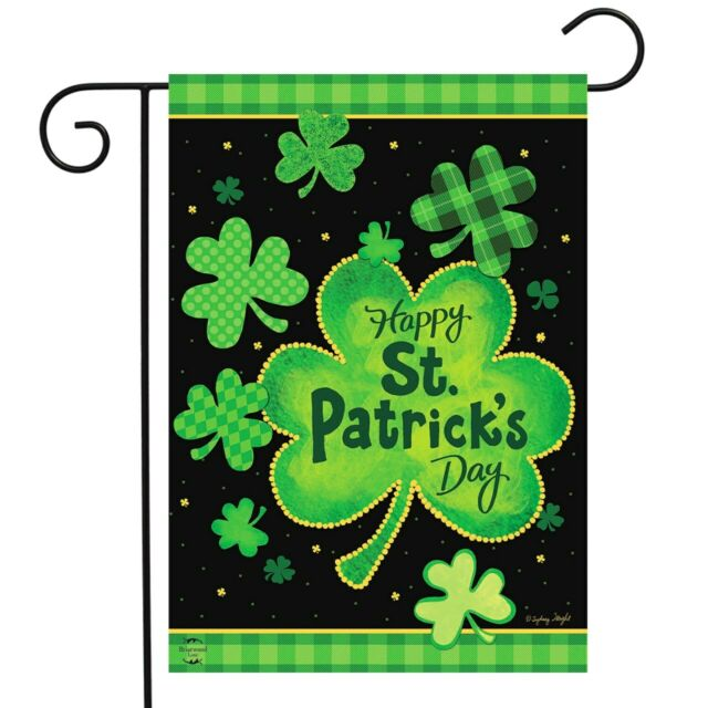 St Patrick S Day Polyester Garden Flag Shamrock House Decoration 12 X 18 Inch For Sale Online Ebay