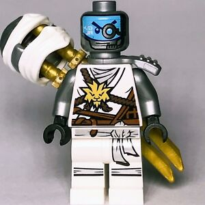 NINJAGO-lego-ZANE-NINJA-master-of-ice-GENUINE-70595-ultra-stealth-raider-SWORDS