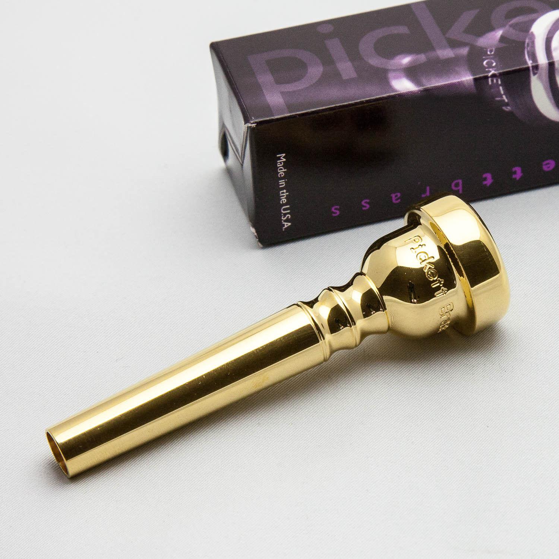 Pickett latón estándar 1c 24k oro Boquilla De Trompeta Trompeta Trompeta Nueva aa3172