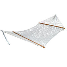 Double Rope Hammock Stand Patio Bed Swing Cotton Camping Garden Outdoor 2  Person