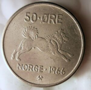 BIRD SERIES Excellent 1969 NORWAY 25 ORE FREE SHIPPING Norway Bin A