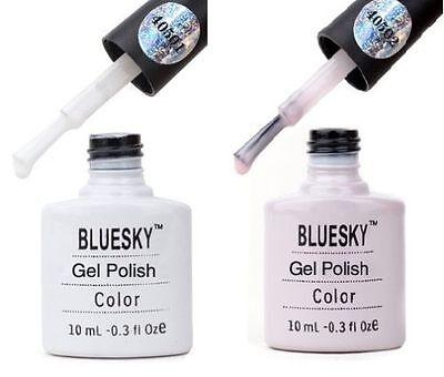 BLUESKY UV/LED GEL NAIL POLISH 40501-49 80550-96 TOP BASE COAT FRENCH MANICURE