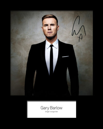 Gary Barlow #1 Signed Photo Print 10x8 Mounted Photo Print FREE DELIVERY