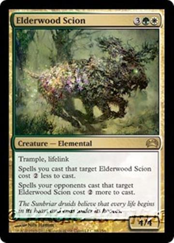 ELDERWOOD SCION Planechase 2012 MTG Gold Creature — Elemental RARE