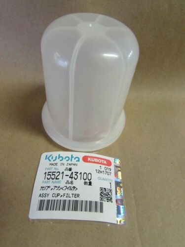 GENUINE KUBOTA FUEL FILTER CUP 15521-43100 1A001-43100 15575-43130 17388-43100