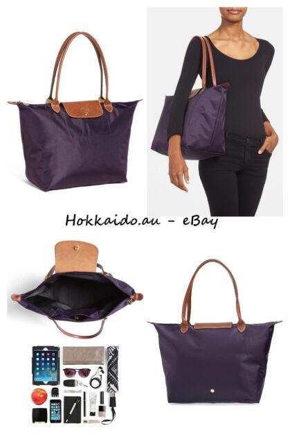 1547f68cc4fb Longchamp Le Pliage Large Nylon Tote Bag Handbag - Color Bilberry - Brand  new
