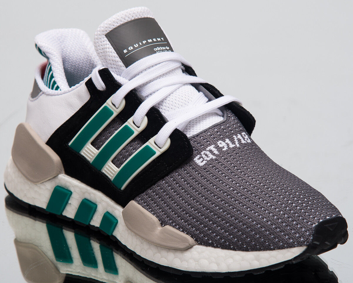 Adidas EQT Support 91 18 Sneakers Core Black Sub Green Lifestyle shoes AQ1037