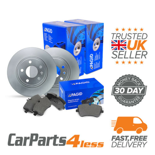 Pagid Rear Brake Kit 2x Disc 1x Pad Set Solid ATE System Jaguar XJ Coupe