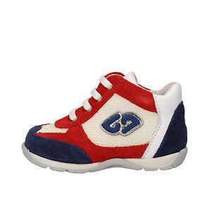 Dettagli su scarpe bambino BALDUCCI 17 EU sneakers rosso blu bianco camoscio tessuto AG934 B