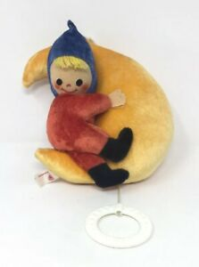 Vintage-80s-FEHN-Boy-Moon-Hanging-Musical-Lullaby-WEST-GERMANY-Rare