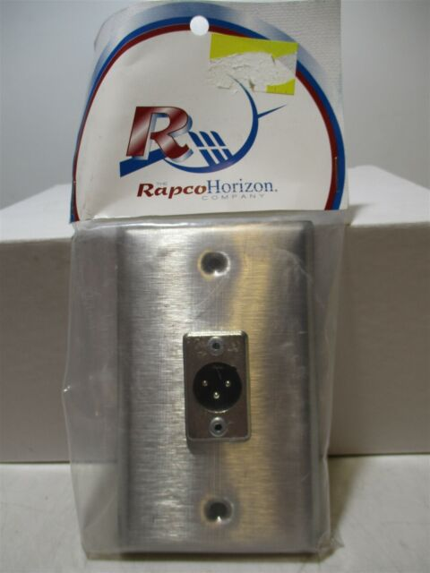 Rapco Horizon (SP-1DMN) Stainless Steel Male Single Gang Wall Plate XLR Jack