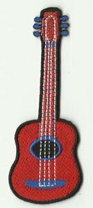 Escudo-Insignia-Parche-Termoadhesivo-Guitarra-Rojo-10-X-3-5CM