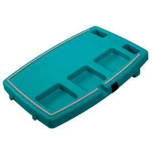 Stupid-Car-Tray-Personal-Multi-Function-Food-amp-Drink-Travel-Organizer-Teal-Gray