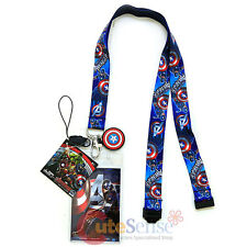 62426bab73 item 7 Marvel Avengers Captain America Lanyard Keychain ID Holder with Charm  Dangle -Marvel Avengers Captain America Lanyard Keychain ID Holder with  Charm ...